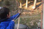 竹で弓矢を作る